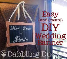 Dabbling Duckie: DIY Wedding Banner ... for my banner boy!