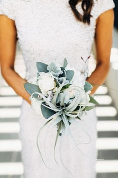 Gorgeous Blue Green Sage Foliage wedding bouquet