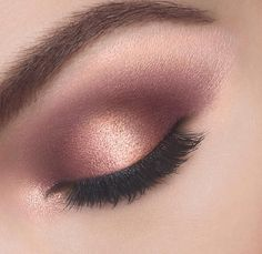 Rose gold and mauve shadow