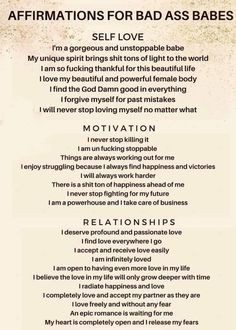 Daily affirmations on self love, motivation and relationships Positive Affirmations Quotes, Self Love Affirmations, Affirmation Quotes, Healing Affirmations, Positive Mantras, Money Affirmations, Positive Quotes For Life Encouragement, Positive Quotes For Life Happiness, Self Love Quotes