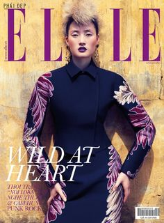 Lina Zhang wears Gucci by Stockton Johnson for Elle Vietnam, October 2013.