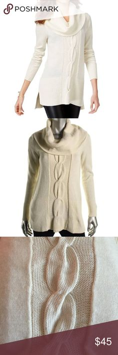 Inc  Cowl‑Neck Cable‑Knit Tunic  NWT - Inc International Concepts Cowl‑Neck Cable‑Knit Tunic. Buttercream color. Great for Birthday, Anniversary, Gift, Boho, Present, Vacation, Cruise, Wedding, Pool, Cover Up, Date, Night, Spring, Summer, Sexy, Work, Casual, Boho, lounging, Daytime, Party. INC International Concepts Sweaters Cowl & Turtlenecks