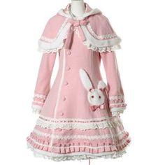 Sweet Lolita Rabbit Wool Coat w/ Cape