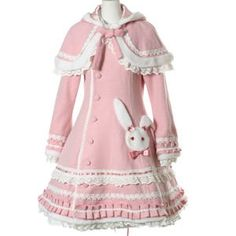 Sweet Lolita Rabbit Wool Coat w/ Cape
