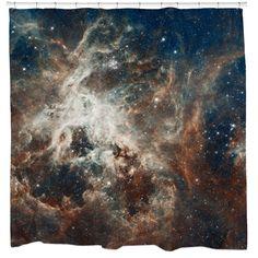 Turbulent Tarantula Nebula Shower Curtain