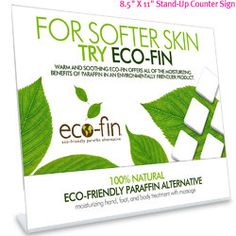 Eco-Fin Counter Card in Acrylic Frame / L x H - Advertise your Eco-fin treatments with this eye-catching counter card. Dimensions: L x H Acrylic Frames, Wow Factor, Home Spa, Body Treatments, Skin So Soft, Counter, Knowledge, Pure Products, Eye