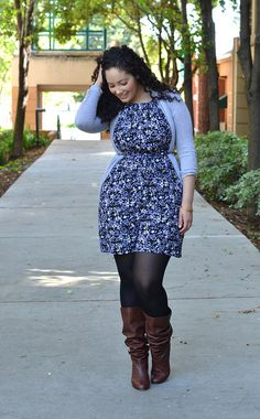 {Floral Holiday} REAL Curvy Girl inspiration from Tanesha Awasthi, her blog: Girl With Curves fall style, tanesha awasthial, floral print, curvy girls, curvy fashion tips, curvy outfits, plus size holiday outfits, floral holiday, floral dresses