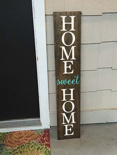 Front porch sign home sweet home sign welcome sign by ItsAGrayLife