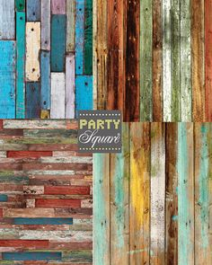 Backdrops, COLOR CHARM, Set of 4, 5X 5 Ft Wood Slats, Vinyl Backdrops for Events Weddings Photo Prop Stage Prop, Long Backdrop on Etsy, $179.00