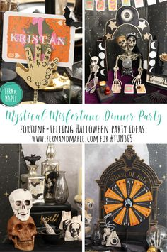 Fortune-Telling Halloween Dinner Party #fun365 #halloweenparty #halloween #dinnerparty #parties #party