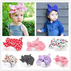 Baby Cotton Big Bow Tie Head Wrap Turban Top Knot Headband Newborn Girl  #Unbranded