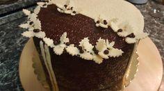 Vianočná čokoládová torta.