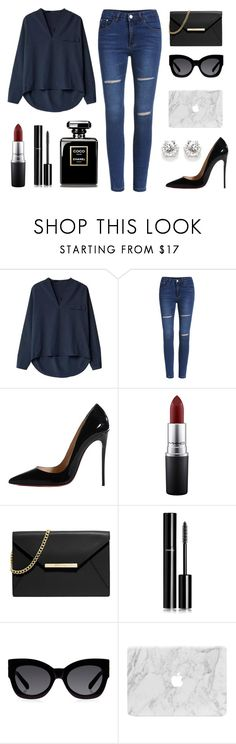 """Untitled #71"" by rodoulla97 on Polyvore featuring Christian Louboutin, MAC Cosmetics, MICHAEL Michael Kors, Chanel and Karen Walker"