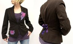 Up cycled thrift store blazer. An easy DIY project