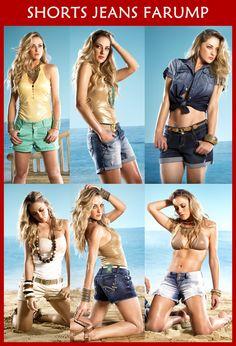Confira as múltiplas opções de estilos, lavagens, shapes e aplicações oferecidas pelos shorts jeans no verão 2013! Vem ver no blog da Farump! http://www.farump.com.br/blog/index.php?id=20