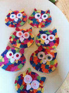 Patchwork Owl (from My Montessori Preschool)