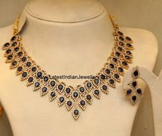 CZ Sapphire Combination Necklace