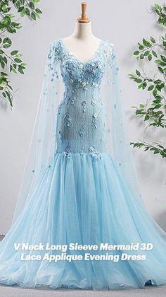 Ball Dresses, Evening Dresses, Prom Dresses, Tulle, Lace Applique, Party Dress, Fashion Dresses, Mermaid, Gowns