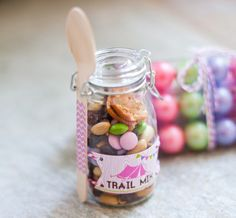 love the jars...  glam camping glamping birthday party printables anders ruff-21