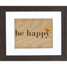 Complete your gallery wall in rustic style with this lovely framed print, featuring a burlap design to complement weathered accents and farmhouse decor. Bird Prints, Framed Prints, Framed Wall, Wall Art, Arts And Crafts Projects, Projects To Try, Burlap Wall Decor, Printing On Burlap, Rustic Flowers