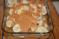 Caramel Banana Slab Pie