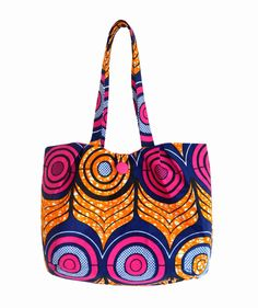 African Fabric Bag, Large Tote