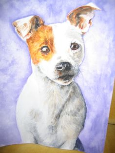 Jack Russell, painted by Linda Bale. Love her work- especially her dogs!!!