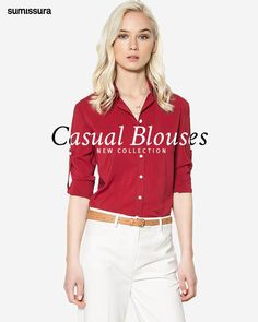 Sumissura.com | Casual Blouses Collection Suits For Women, Blouses For Women, Blouse Online, Shirt Dress, Female, Womens Fashion, Casual, Clothing, Fabric