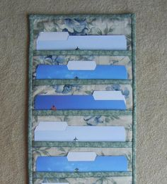 PDF Pattern for File Folder Pocket Organizer Wall Hanging, Wall Organizer - Tutorial, DIY File Folder Organization, Office Organization, Organizing Ideas, Sewing Tutorials, Sewing Patterns, Sewing Projects, Hanging File Folders, Hanging Files, Pocket Organizer