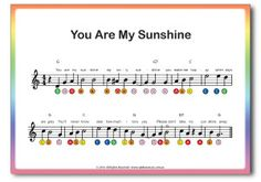 Rainbow Music - Beginner Piano for Kids - Song - You are my Sunshine