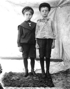 Knickerbockers and Sailor Collars.  Two boys in knee pants, East Point, Florida, c 1900-12
