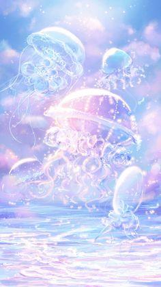 Cute Galaxy Wallpaper, Cute Pastel Wallpaper, Anime Scenery Wallpaper, Landscape Wallpaper, Kawaii Wallpaper, Cute Wallpaper Backgrounds, Pretty Wallpapers, Fantasy Art Landscapes, Fantasy Landscape