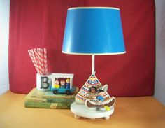 Second version of the Little Indian lamp - Irmi Nursery Plastics Lamp Light Little Indian by BSquaredCreative, $50.00