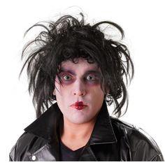 Zwarte Edward Scissorhands pruik voor volwassenen Zwarte pruik met het Edward Scissorhands kapsel, uit de gelijknamige film.