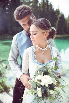 Traditional costume wedding by Lara & Alex Austria, Oktoberfest Outfit, Best Wedding Colors, Couple Pictures, Happily Ever After, Wedding Inspiration, Flower Girl Dresses, Wedding Photography, Costumes
