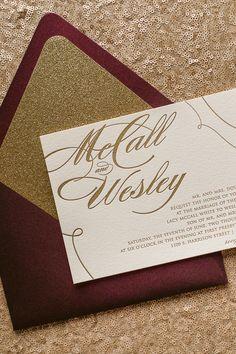 LAUREN Suite Glitter Package. Glitter Wedding InvitationsLetterpress ...