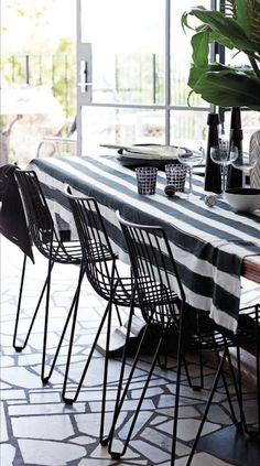 Black & White patio