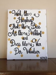 Gossip Girl Canvas Painting by APassionforPainting on Etsy