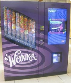 I found 'Wonka Nerds Life Size Candy Vending Machine' at the Anderson Movie theater.best thing EVER! Anderson Movies, Nerds Candy, Sour Candy, Willy Wonka, Favorite Candy, Cool Inventions, Machine Design, Candyland, Retail Design