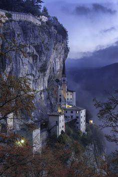 There amazing Madonna della Corona (Veneto, Italy)