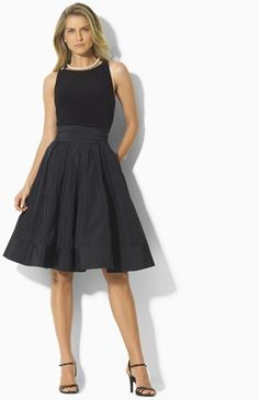 Ralph Lauren Sleeveless Pleated Dress
