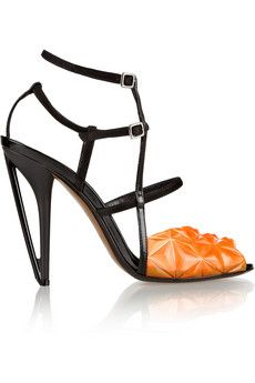 Fendi Iridia suede and PVC sandals | THE OUTNET
