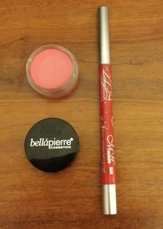 Only Swatched Lip and Cheek Stain in Pink.Long Lasting Red Lipliner/Eyeliner. Pencil traded..