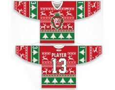 The Reading Royals of the East Coast Hockey League Christmas Sweater Jersey Royal Christmas, Christmas Fashion, Christmas Fun, Hockey Rules, Hockey Mom, Hockey Stuff, Ice Hockey, Ugly Sweater Party, Ugly Christmas Sweater