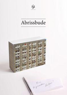 Abrissbude Notizblock - ade Plattenbau! Njustudio Curiosity Club – njustudio #ncc
