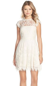 lace fit and flare dress by bb dakota @nordstrom #nordstrom