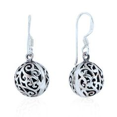 Chuvora Sterling Silver Celtic Filigree Ball Dangle Earrings Chuvora. $29.99. Marked .925. Packaging: Black Velvet Pouch. Matching necklace available. Search Amazon for NE0094SIL. Weight: 3.8 g. Length: 3 cm, Width: 1 cm. Save 40% Off!