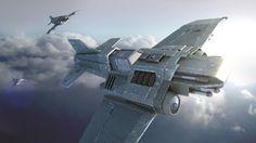 futuristic vehicle, spaceship