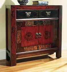 Hooker Furniture 500-50-645 Asian Two-Door/One-Drawer Hall Chest, Rich Gesso Finish with Subtle Gold Highlights