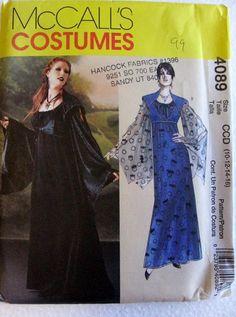 McCalls Womens Misses Goth Vampire Gown Dress Costume by Vntgfindz